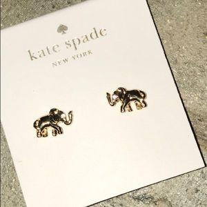 kate spade Jewelry - NWT Kate Spade Gold plated Elephant Stud Earrings